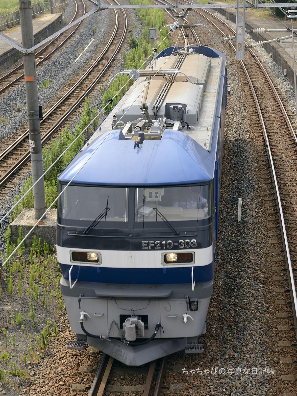 単585レ、EF210-303 向洋駅