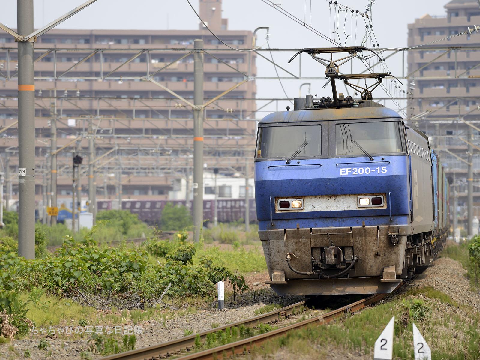 1056レ、EF200-15 天神川駅~向洋駅