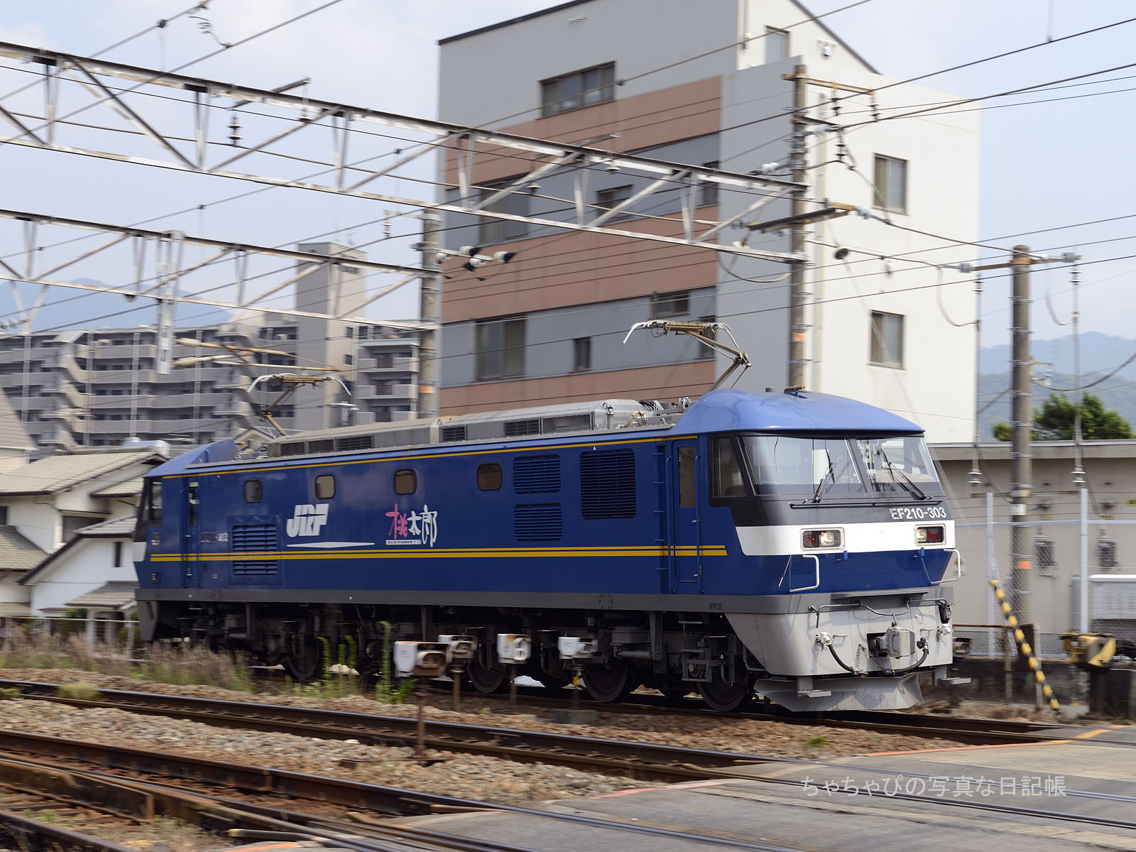 単591レ、EF210-303 海田市駅