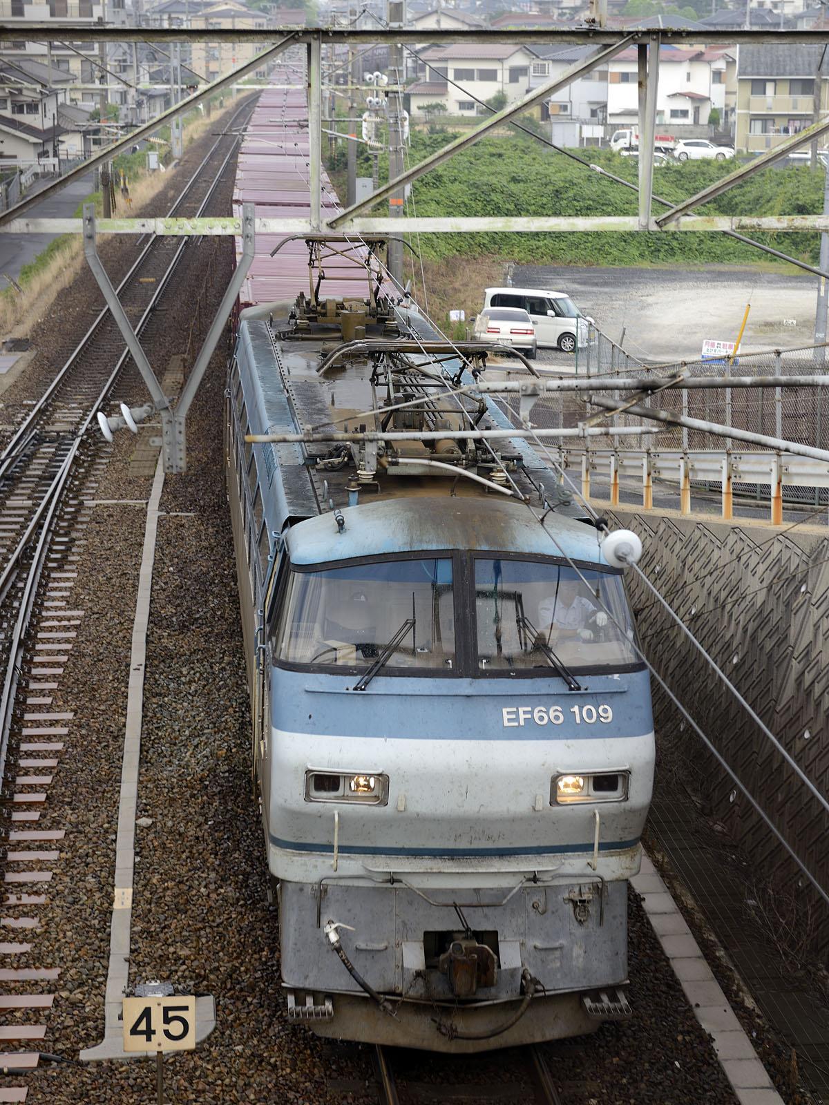 2074レ、EF66-109 八本松駅~西条駅