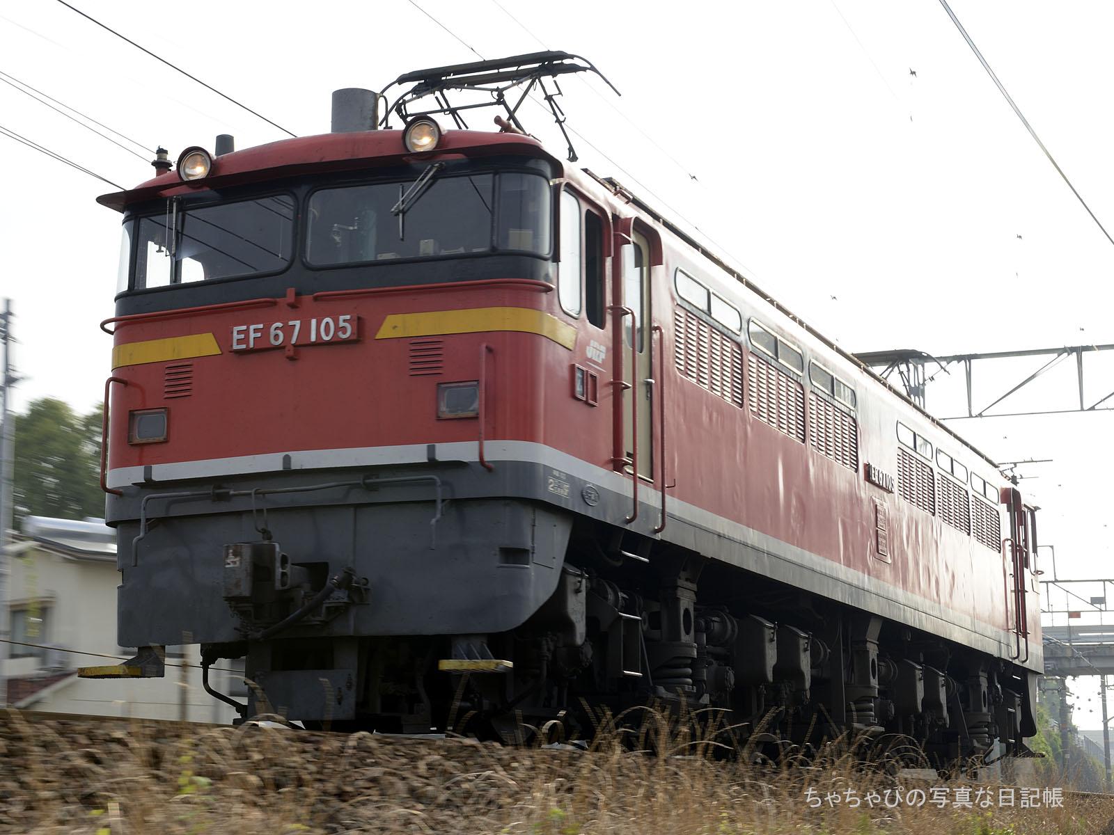 単575レ、EF67-105 西条駅~八本松駅