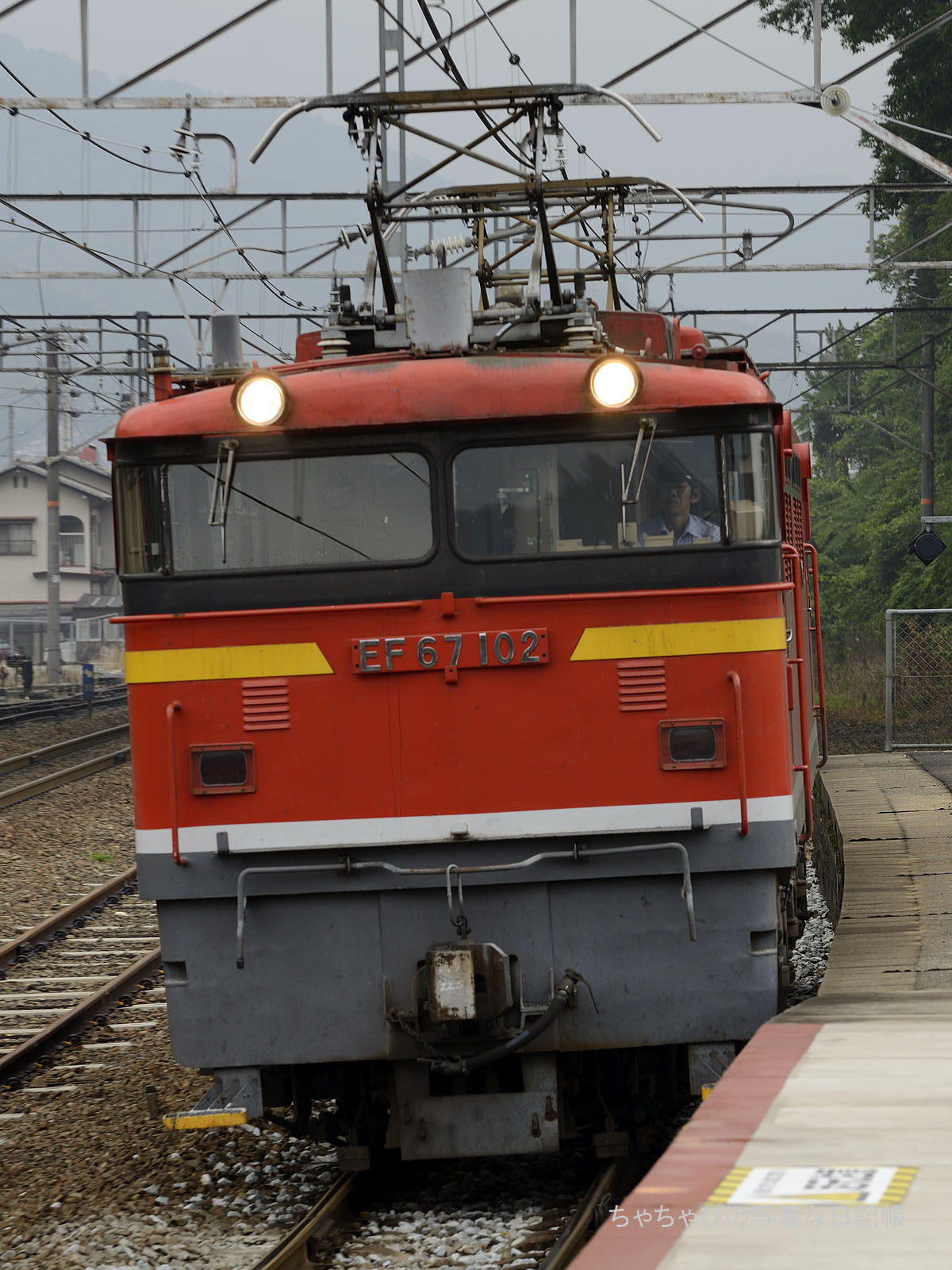 単577レ、EF67-102 八本松駅