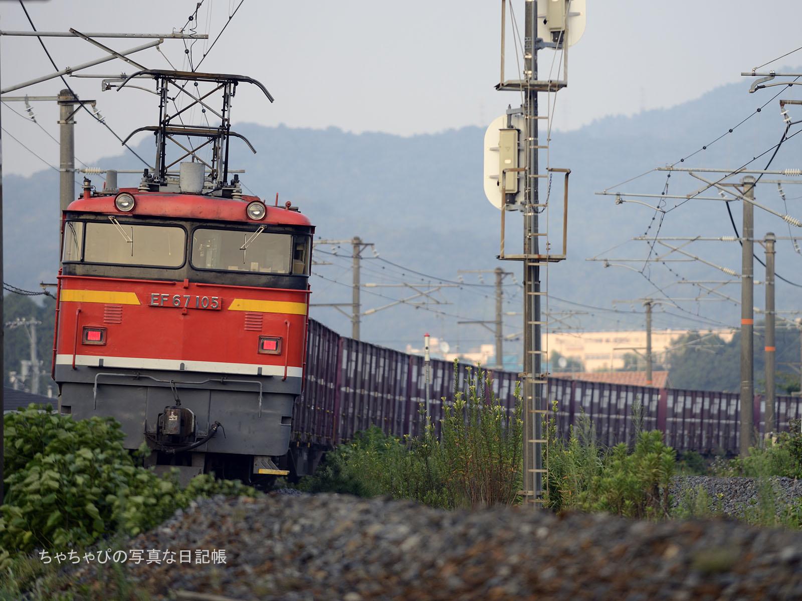 5058レ、EF67-105 八本松駅~西条駅