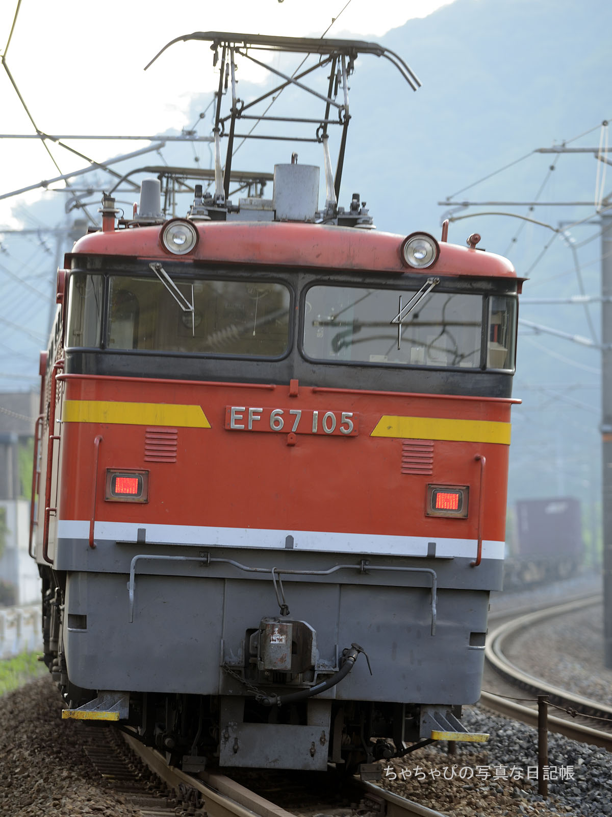 1054レ、EF67-105 中野東駅~瀬野駅