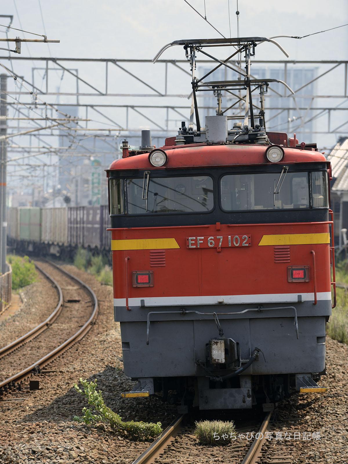 1056レ、EF67-102 向洋駅