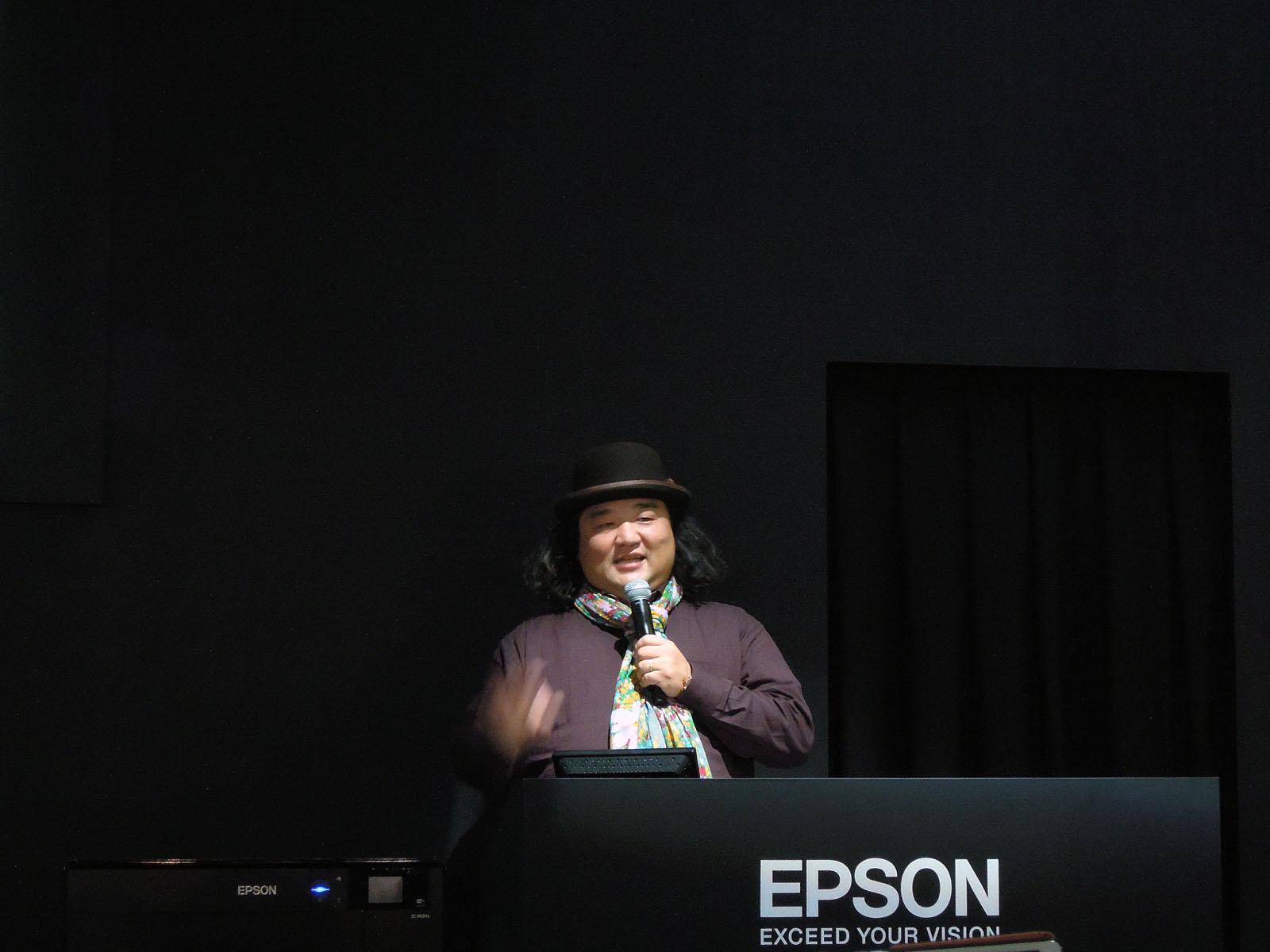 エプソンブース 中井精也氏講演
