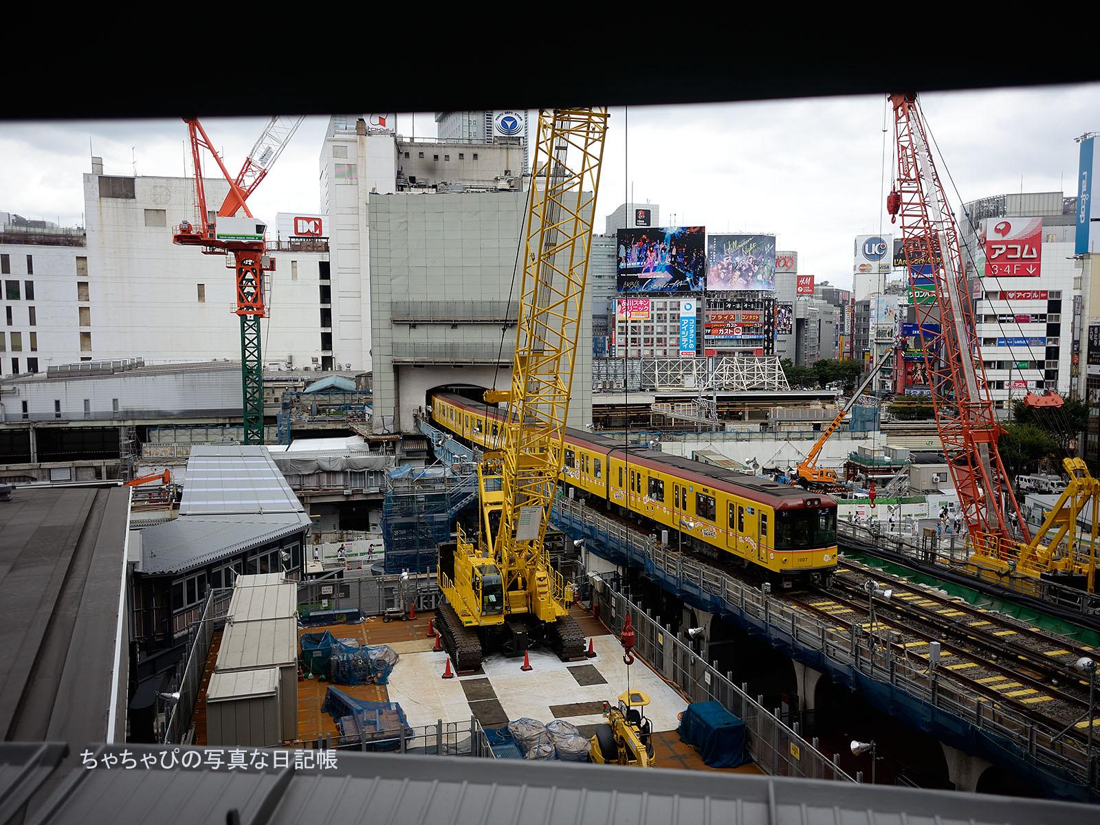 チキンラーメンひよこちゃんラッピング 東京メトロ銀座線 1000系07編成