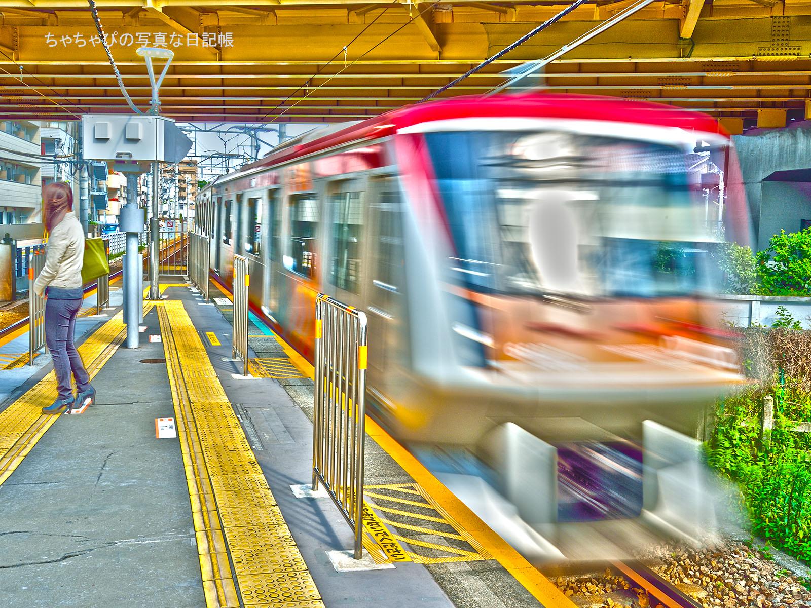 東急大井町線 等々力駅 6000系