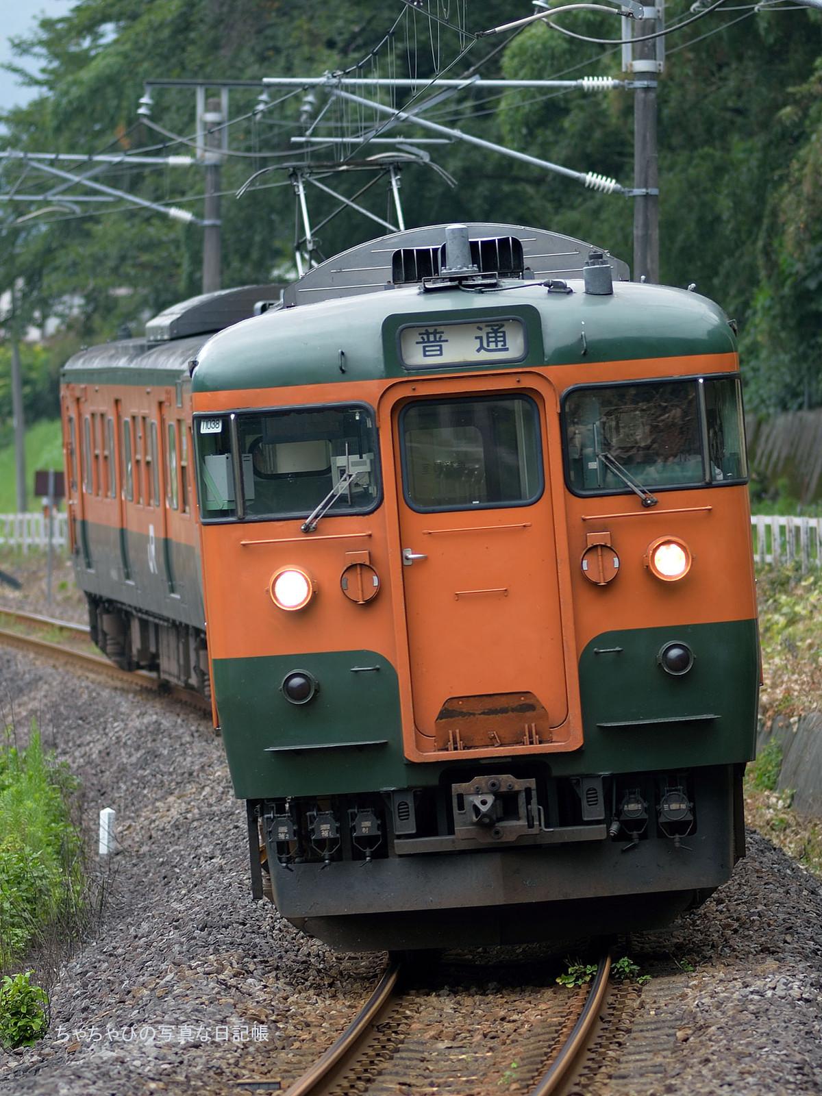 JR東日本 信越本線 西松井田駅~横川駅 115系1000番台 -T1038編成-